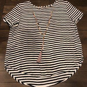 H &M stripped BW blouse